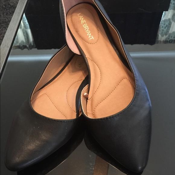 4dbd2cbac5e Lane Bryant Shoes - Black Wide Width Pointed Toe Dorsay Flats